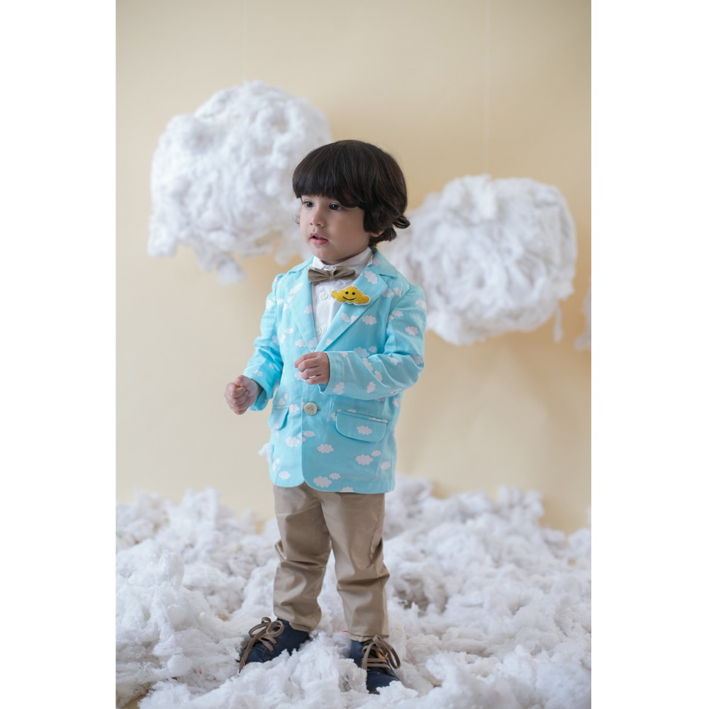 4 Pc Cloud Blazer Trouser Set