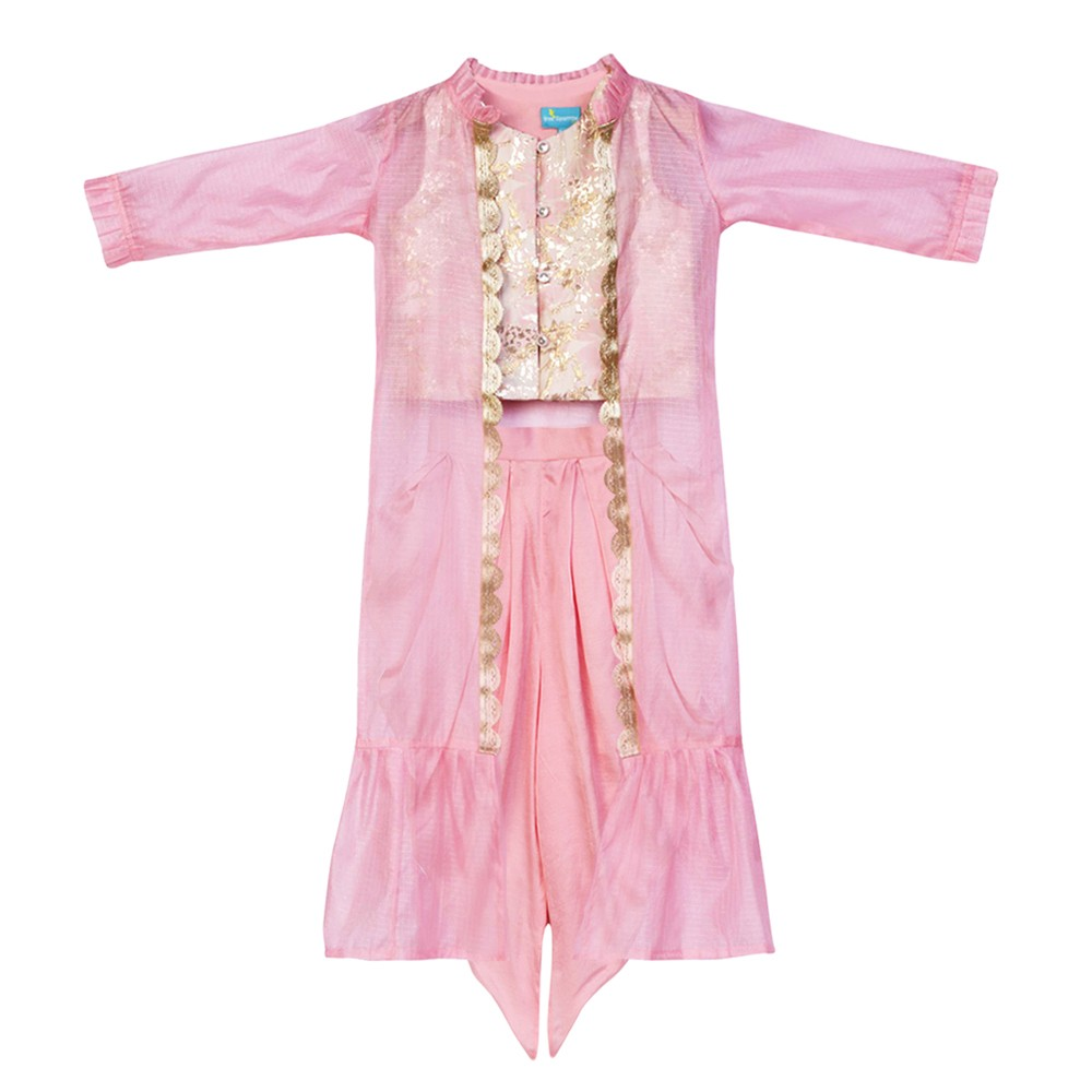 Angel Wings Jacket Dhoti Set