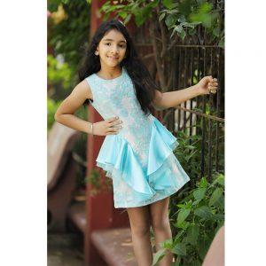 Aqua Flower Dress