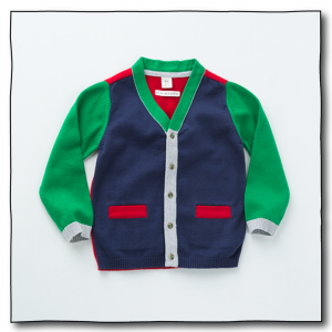 Navy Boys Michu Cardigan
