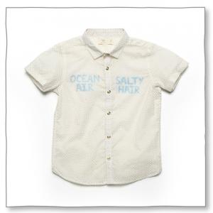 Boys Salt Shirt Golden Polka Dots