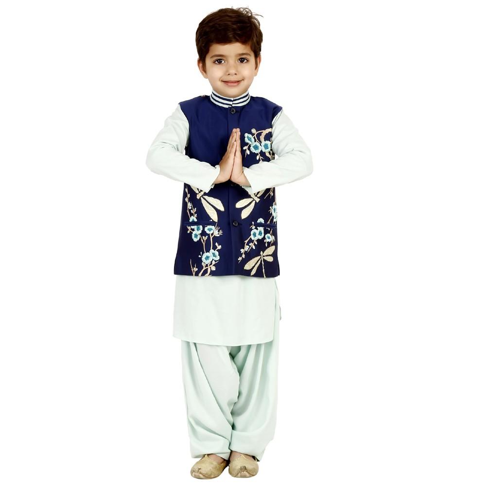 Dragon Fly pathani vest set