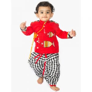 Fishy Dhoti Kurta Set