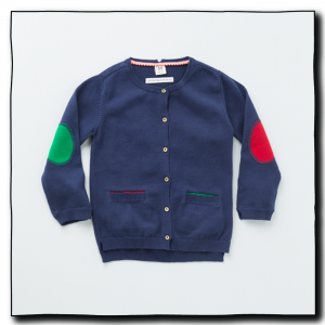 Navy Girls Alfalfa Cardigan