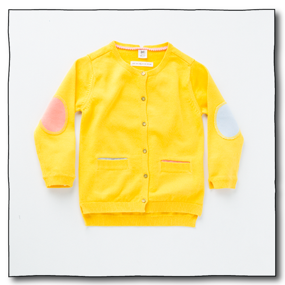 Yellow Girls Alfalfa Cardigan