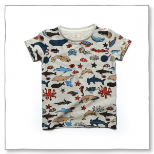 Marine Friends Tee Ecru