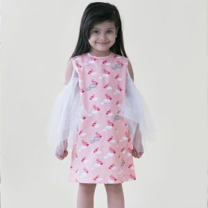 Pink Bird Cloud Dress