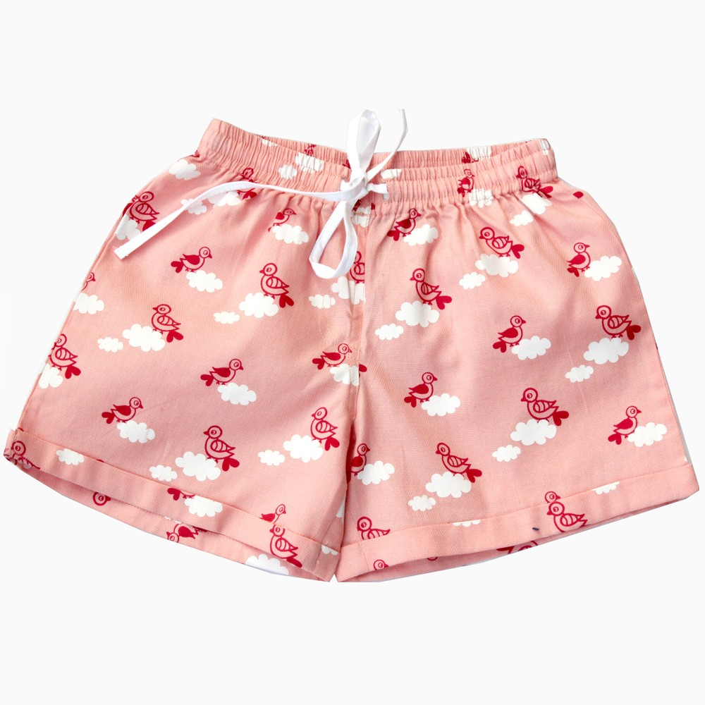 Pink Bird Cloud Shorts