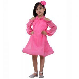 Sky cold shoulder dress