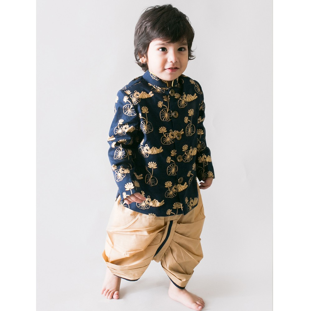 Bengal Tiger Bandhagala Dhoti Set Infants