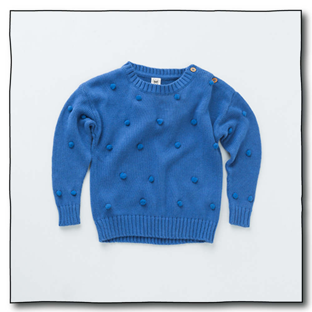 Blue Unisex Juggling Ball Sweater