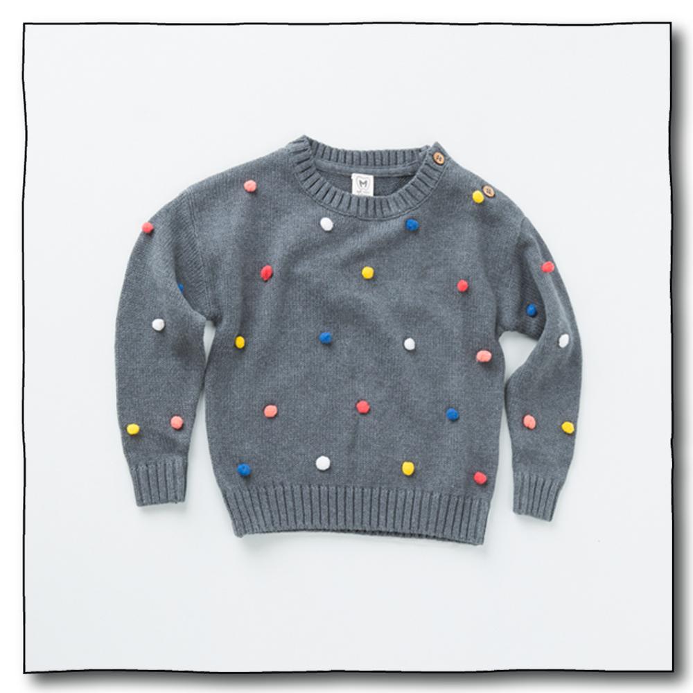Grey Unisex Juggling Ball Sweater
