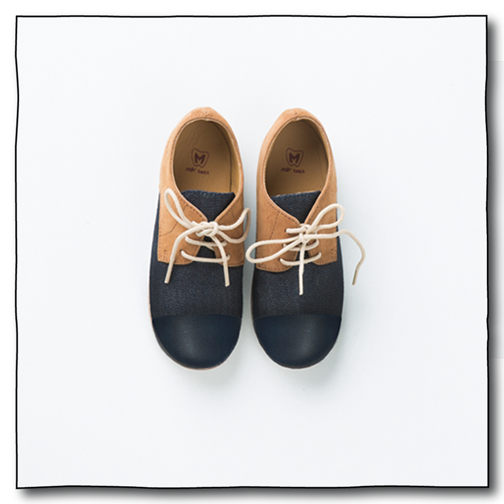 Navy Unisex Oxford Shoes