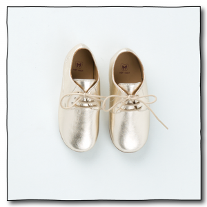 Gold Unisex Oxford Shoes