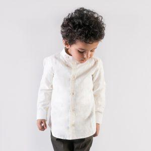 White Cotton Linen Shirt