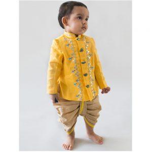 Yellow Birdy Gota Bandhgala