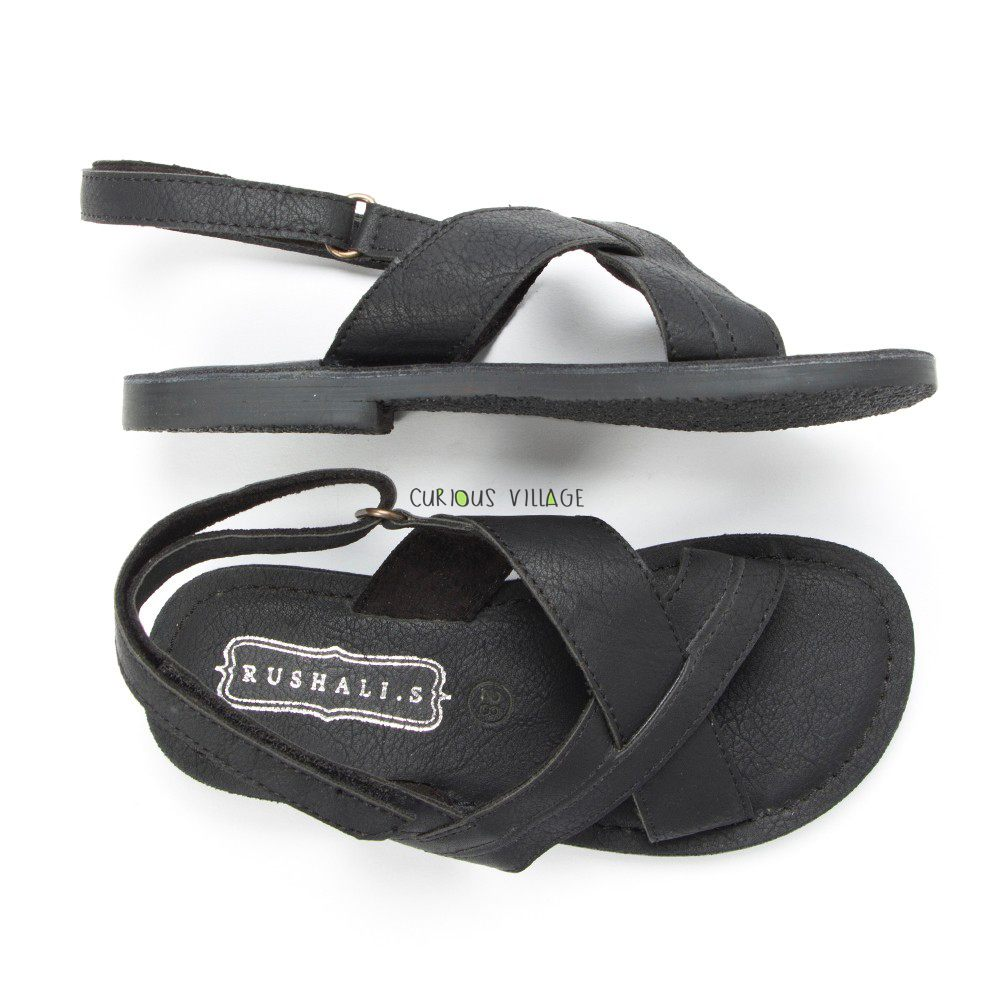 Black Distress sandals