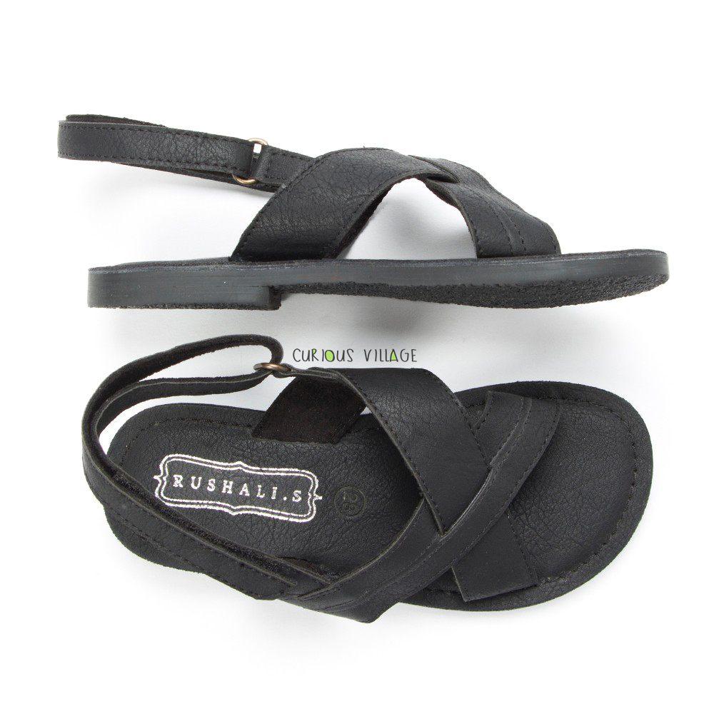 Black Distress sandals