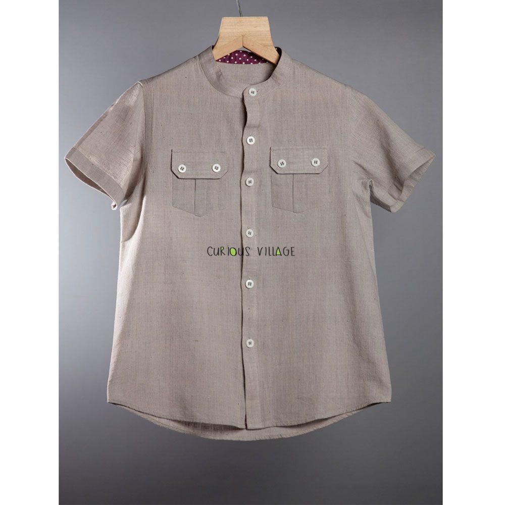 Cotton Shirt (Stone Grey)