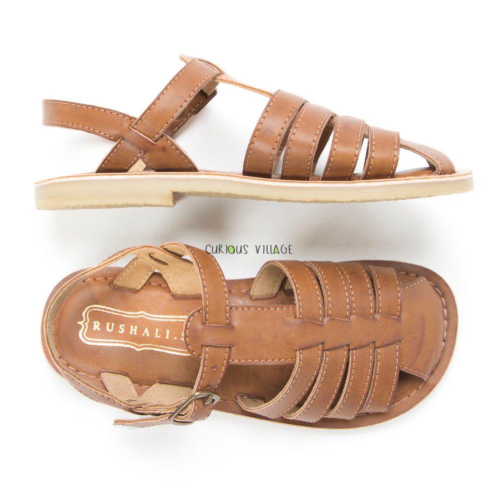 Dark tan sandals