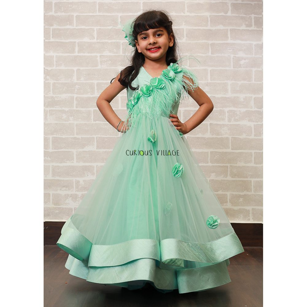 Green Feather Gown - Curious Village