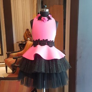 Pink fuchsia black shimmer cross dress
