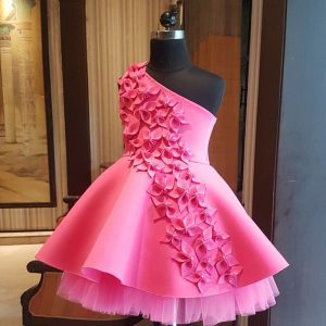 Pink blooming flower dress