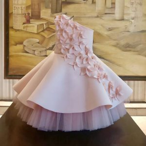 Baby pink petal dress