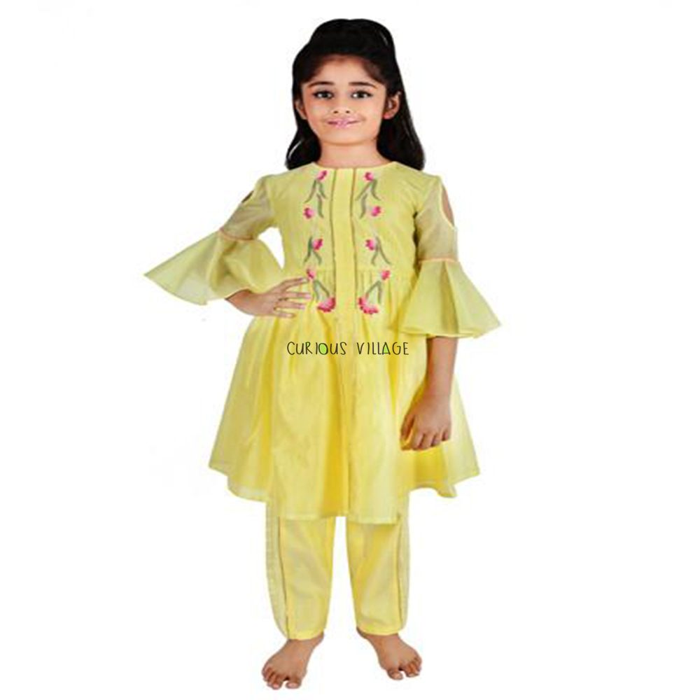 INDO WESTERN YELLOW SUIT