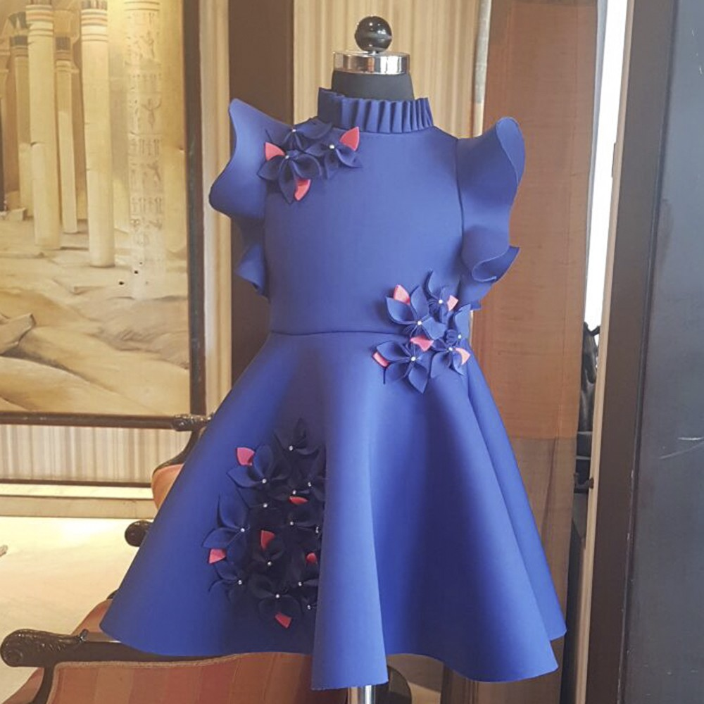 Midnight blue garden dress