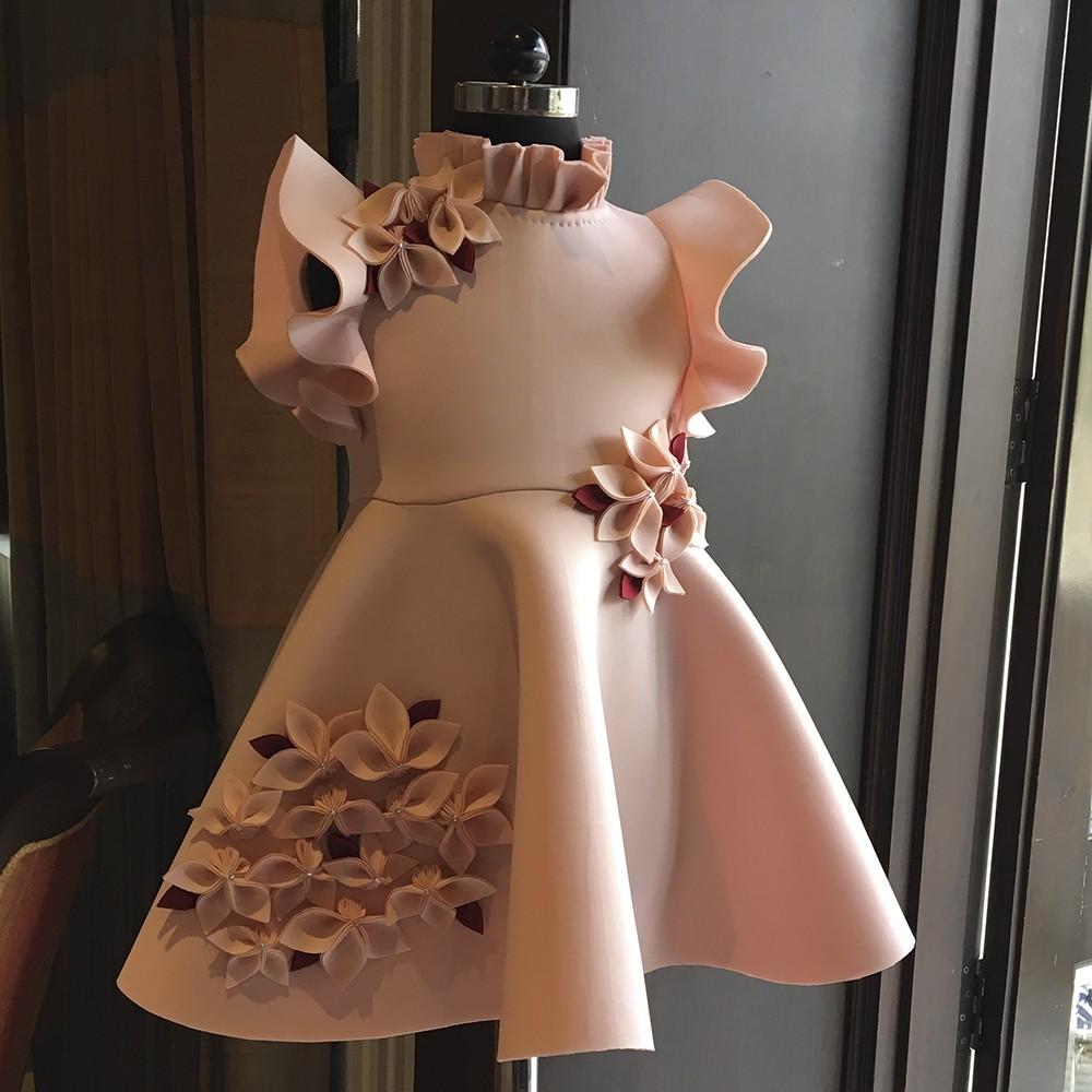 Peach garden dress
