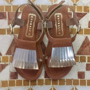 Tan Silver sandals