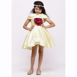 Shawl Collar Dress Flower