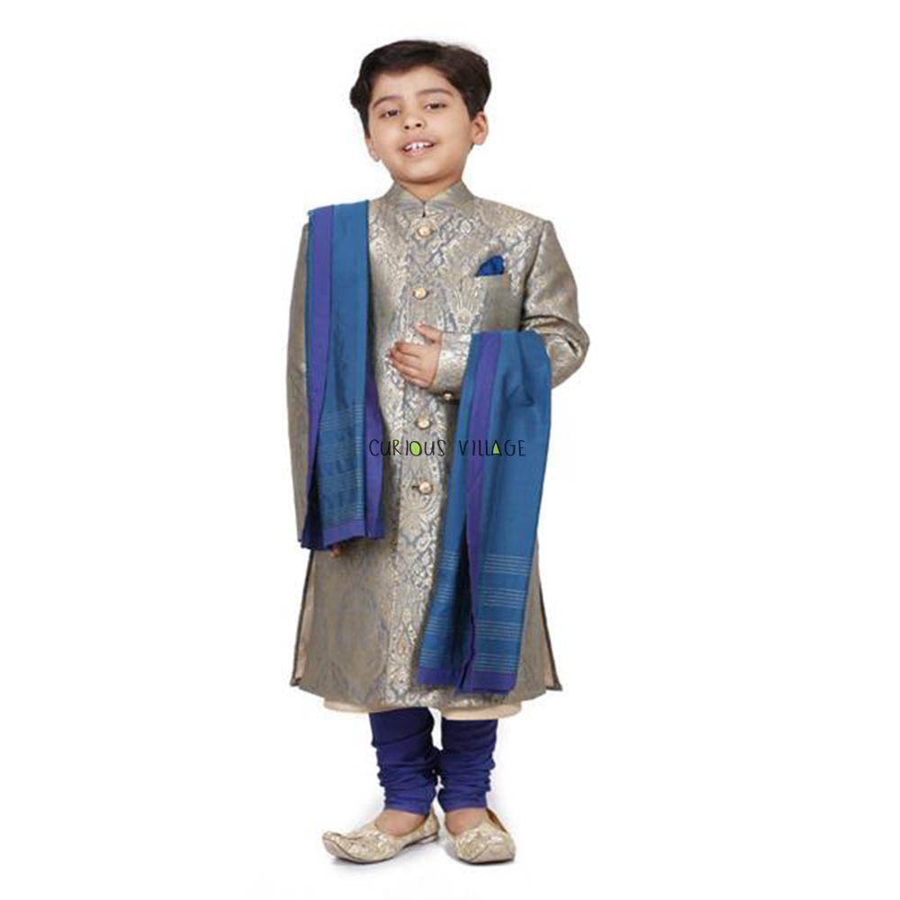 jacquard sherwani kurta cotton churidar