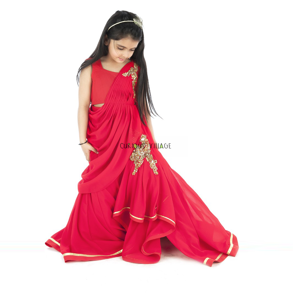 Gown Lehenga Set