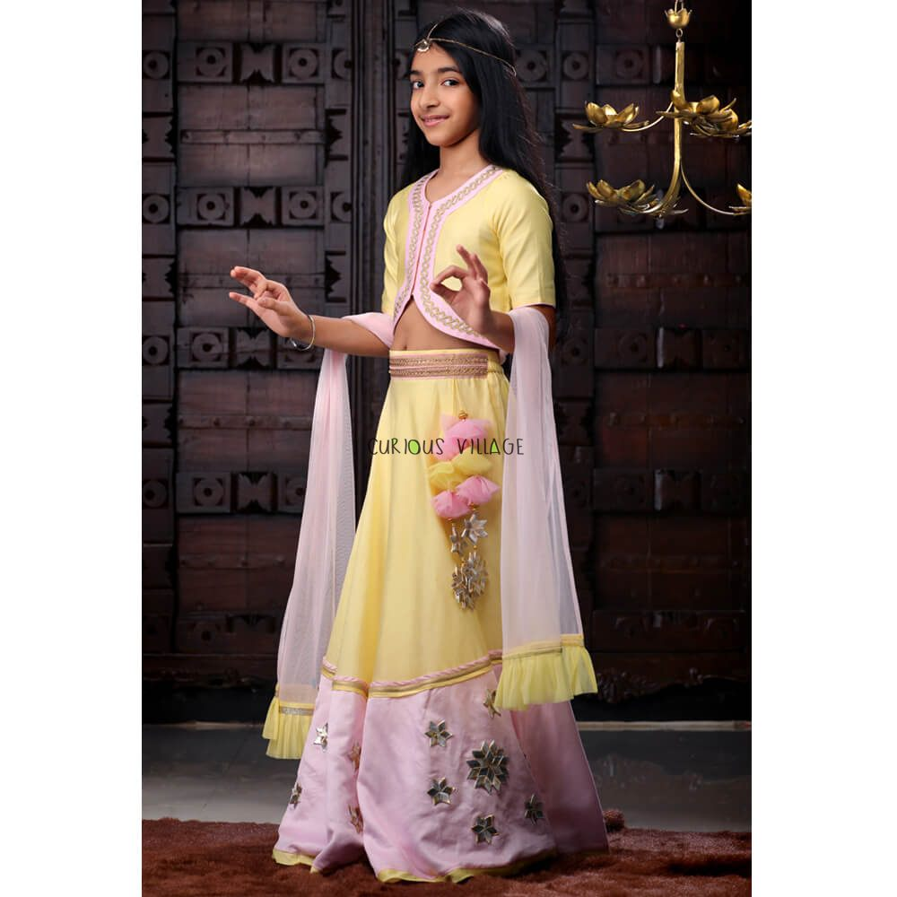 f5a557ad56d Candy Marshmallow Lehenga Set - Curious Village