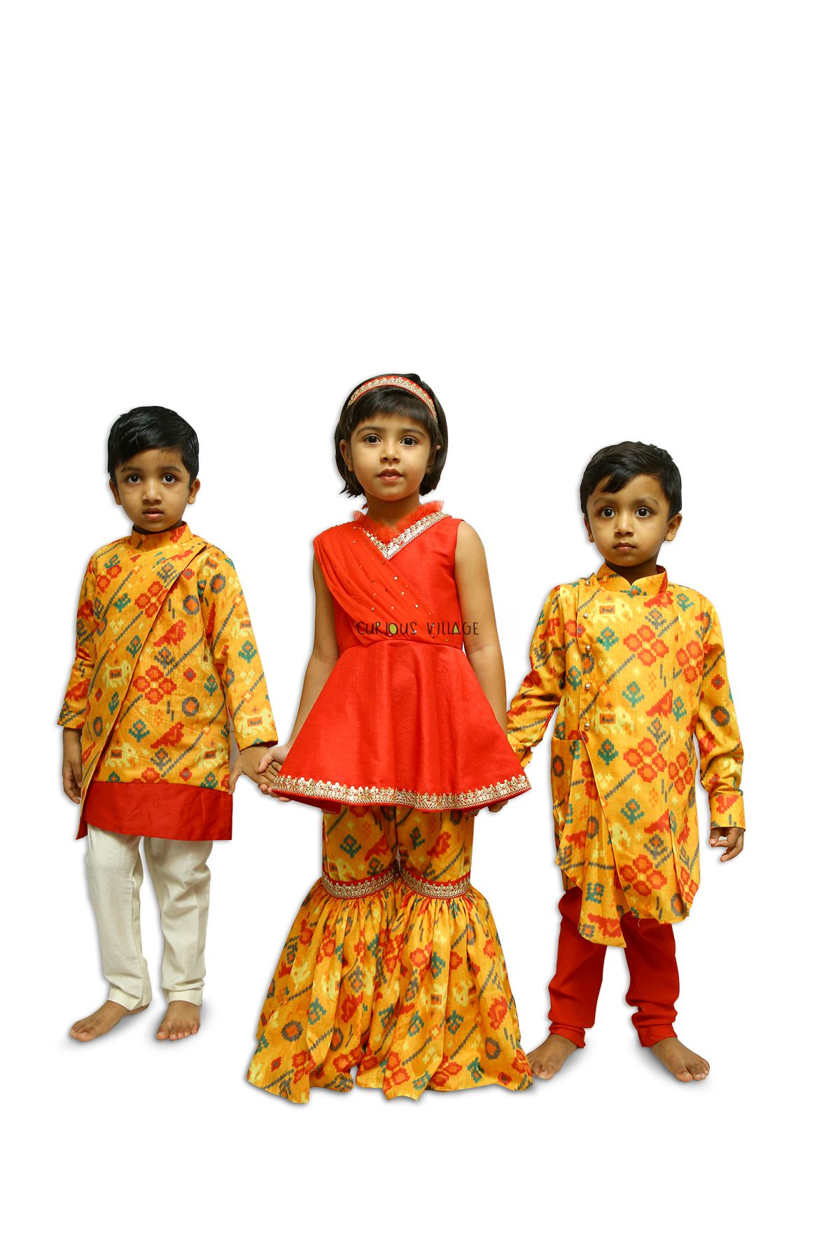 Yellow Red Patola (boys)