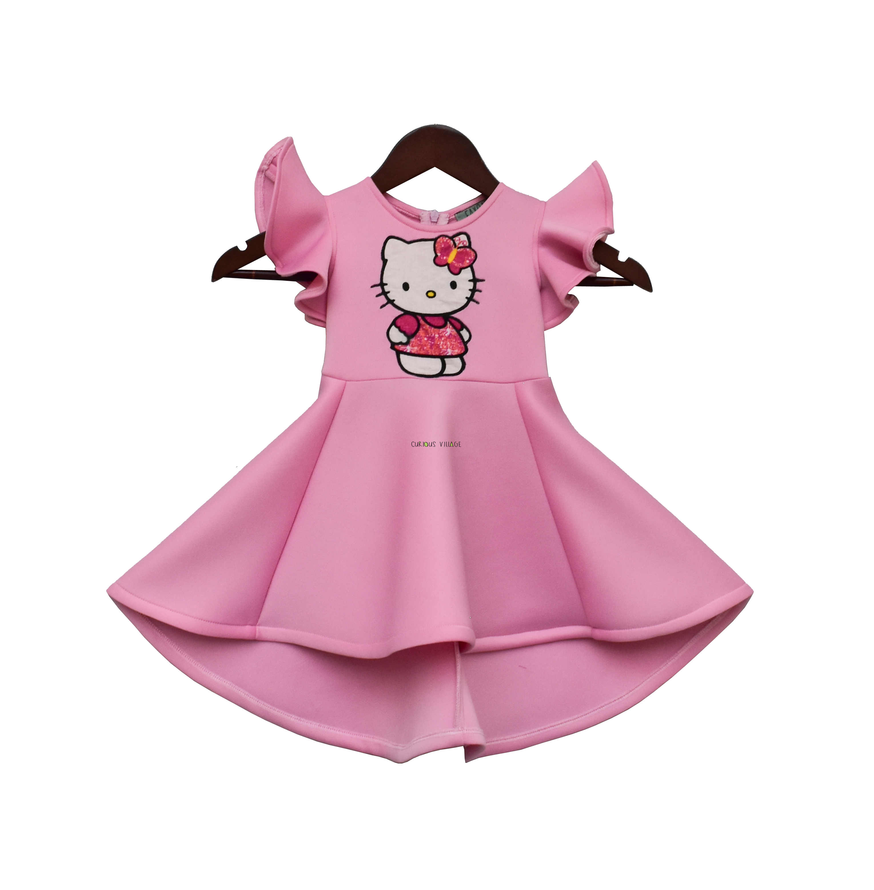 Pink Lycra Hello Kitty Dress